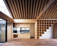 This Tokyo house is named after Noah's Ark because it features a symmetrical floor plan and a pointed wooden roof.