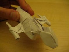 Origami Firefly with link to downloadable instructions.