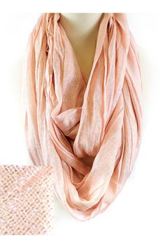 Shimmer Liam Infinity Scarf in Aspen