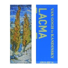 LACMA Store - Vincent van Gogh 'Poplars' Street Banner, authentic vinyl street banner from Los Angeles.