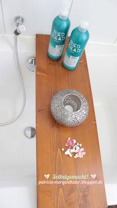 DIY Idee: Badewannenablage schnell und einfach selber bauen Weitere tolle DIY Ideen, Deko und Basteltipps findet ihr unter: www.homemadebypatricia.de