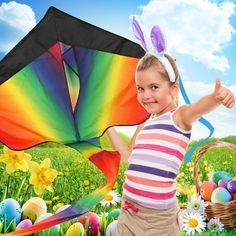 Huge Rainbow Kite For Kids and Adults