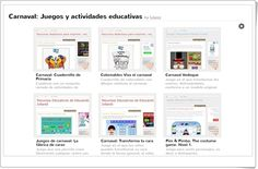 Juegos educativos, actividades interactivas y materiales imprimibles para el carnaval. Carnival, Interactive Activities, Educational Activities, Educational Games, Teaching Resources, Printables