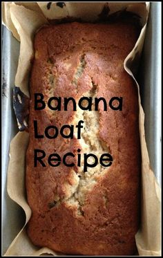 Banana loaf. So easy that even I manage to bake it right every single time without fail!