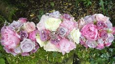 rose and peony bouquets by The Posy Barn