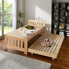 国産無塗装ひのき天然木 親子すのこベッド 上下段親子ベッド 通販 - ディノス