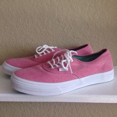 """Washed Raspberry"" vans Super cute, slim size 9 womens vans. Brand newtrade Vans Shoes Sneakers"