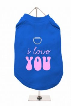 """""""I love you"""" Harness-Lined Dog T-shirt"""