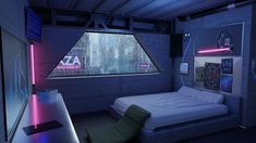 Love Your Ctritique :) : blender Futuristic Bedroom, Futuristic Interior, Futuristic Architecture, Cyberpunk Aesthetic, Cyberpunk City, Arte Cyberpunk, Spaceship Interior, Bedroom Setup, Environment Design