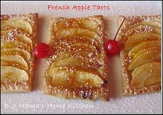 Big Mamas Home Kitchen: French Apple Tarts by Little Chef Madison New Recipes, Cookie Recipes, Dessert Recipes, Favorite Recipes, French Apple Tart, Apple Tarts, My Pie, Little Chef, Sweet Pie