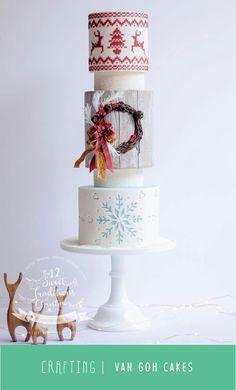 Winter Christmas Cake van Goh cakes