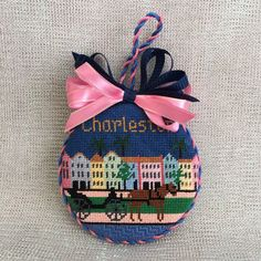 Charleston ornament ~ Canvas by Silver Needle