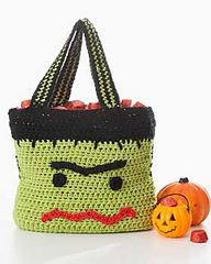 Ravelry: Monster Trick or Treat Bag pattern by Lily / Sugar'n Cream. The face would make a cute square