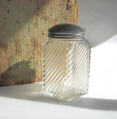 A personal favorite from my Etsy shop https://www.etsy.com/listing/254126548/vintage-glass-jar-sugar-shaker-ribbed