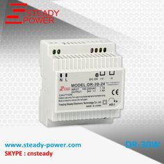 IP20 Constant voltage 30watt din rail ac-dc electron transformer DR-30-24 30w 24v led switching power supply #Affiliate