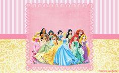 Princesas Disney Kit festa infantil grátis para imprimir – Inspire sua Festa ®