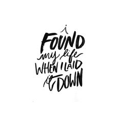 I found my life when I laid it down -Hillsong United || Kristen Frasca