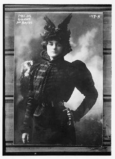 """Maud Gonne MacBride (Irish: Maud Nic Ghoinn, Bean Mhic Giolla Bhríde, 21 December 1866 – 27 April 1953) was an English-born Irish revolutionary, feminist and actress, best remembered for her turbulent relationship with William Butler Yeats."" (via)."