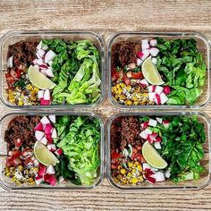 Taco salad bowls! Could eat these everyday @omn0mnoms   - See our TOOL and GUIDES for every goal you have! [in profile link ] - Share your images by tagging us or using #MealPlanMagic - #mealplan #mealprep #fitfood #mealprepping #preplife #cleaneating #mealplans #cleaneats #foodporn #transformation #mealprepsunday #mealprepmonday #eatclean #mealprepsociety #macros #foodprep #fitfoodie #eattherainbow #bodymotivation #macrosmatter #fatloss #weightlosstransformation #healthyrecipes #fitness… Fitness Transformation, Clean Eating, Healthy Eating, Healthy Food, Taco Salad Bowls, Motivational Photos, Prep Life, Sunday Meal Prep, Eat The Rainbow