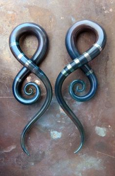 And this is why I gauge.  Squid earrings by glassheartstudio on Etsy.  #piercing