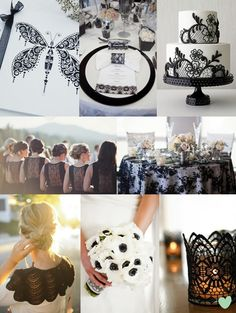 Black Lace Wedding Theme from The Wedding Community