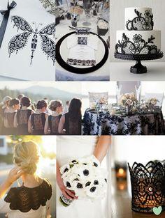 Black Lace Wedding Theme from The Wedding Community