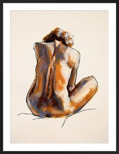 Life Drawing 2 by Nicola King - art print from King & McGaw Life Drawing 2 Art Print by Nicola King Human Body Drawing, Human Body Art, Human Figure Drawing, Life Drawing, King Art, King King, Body Image Art, L'art Du Portrait, Gcse Art Sketchbook