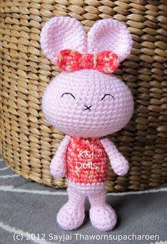 Ravelry: Baby Bunny Amigurumi Crochet Pattern pattern by Sayjai Thawornsupacharoen