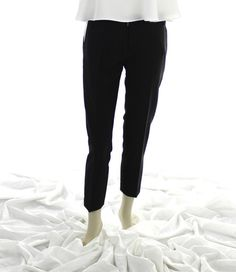 Modern-Vintage Black and White Cigarette Pants from www.theadoravintage.com