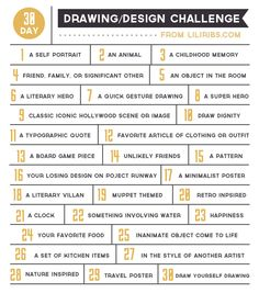 30 days challenge drawing - Buscar con Google