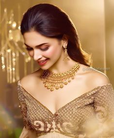 Deepika Padukone for new Utsava Collection by Tanishq Jewellery 💎 Beautiful Bollywood Actress, Beautiful Indian Actress, Beautiful Actresses, Indian Celebrities, Bollywood Celebrities, Bollywood Images, Tanishq Jewellery, Dipika Padukone, Deepika Padukone Style