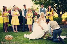 Christian foot washing ceremony at wedding