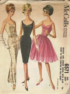 V neck evening dress pattern ideas