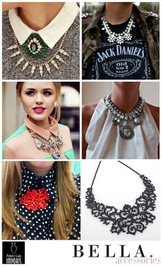 How to wear bib necklaces - featuring #bellaacessories by Pottery Lane Imports baroque bib necklace in orange and black #howto