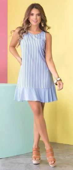 Women's Dresses, Cute Dresses, Short Dresses, Summer Dresses, Simple Dresses, Casual Dresses, Look Fashion, Fashion Outfits, Travel Outfits