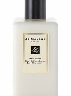 Jo Malone Red Roses Body and Hand Lotion, 250ml Red Roses Body  Hand Lotion is smooth to apply yet completely luxurious, the voluptuous scent of roses blended with sensual clove and honeycomb ensures that skin is left with a lasting allure. Compli http://www.comparestoreprices.co.uk/health-and-beauty/jo-malone-red-roses-body-and-hand-lotion-250ml.asp