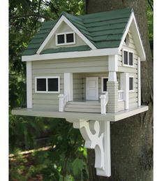 Bungalow Birdhouse   Wooden Birdhouses   Plow