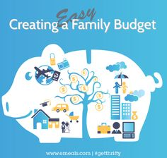 FREE printable for your first family budget. Very helpful and cute design to boot. #finances #savemoney