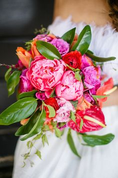 Colorful, tropical bouquet | by Petronella Photography | see more on: http://burnettsboards.com/2014/05/mexican-wedding-traditions/ #bouquet