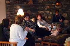 Feet up by the fire on a chilly autumn night. That's how we end each day at Women At Woodstock.