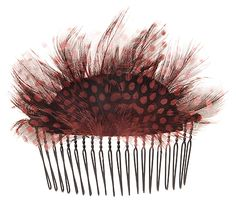 L. Erickson Spotted Feather Wire Comb
