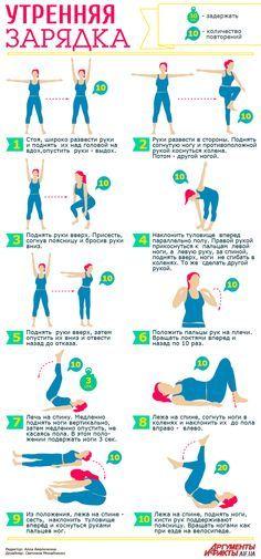 Зарядка для похудения, нормализации сна и хорошего настроения | Здоровая жизнь | Здоровье | АиФ Украина