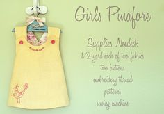 Reversible pinafore top -- free pattern download including optional embroidery