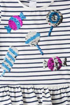 Kinder - Langarmshirt - Bio-Baumwolle - Glanz Effekt - dunkelblau / weiß