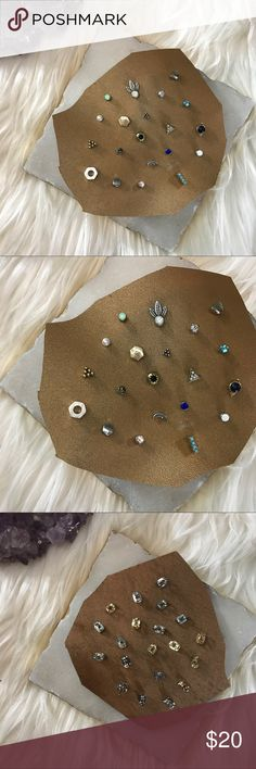 Free People Mixed Earring Set Blue NEW • tagged as FP for exposure • mix and match for tons of options - all earrings are brand new Free People Jewelry Earrings
