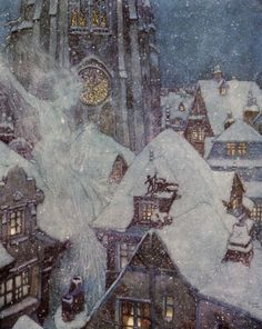 Snow Queen By Edmund Dulac From Hans Christian Anderson Children's Print