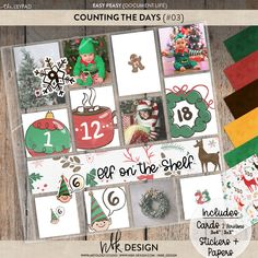 Collections Catalog, Scrapbook Supplies, Perennial, Easy Peasy, Elf On The Shelf, Counting, Digital Scrapbooking, Dates, Numbers