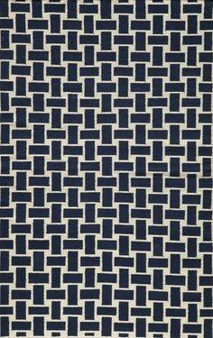 Laguna Navy Contemporary Geometric 2' x 3' Momeni Rug by RugLots contemporary-rugs
