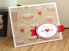 love the stamped background. card by Nichole Heady