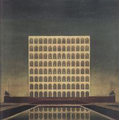 Il palazzo della civiltá italiana_Giovanni Guerrini, Ernesto Bruno La Padula and Mario Romano_1936-42